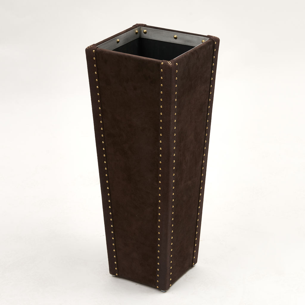 Chocolate Suede Umbrella Stand
