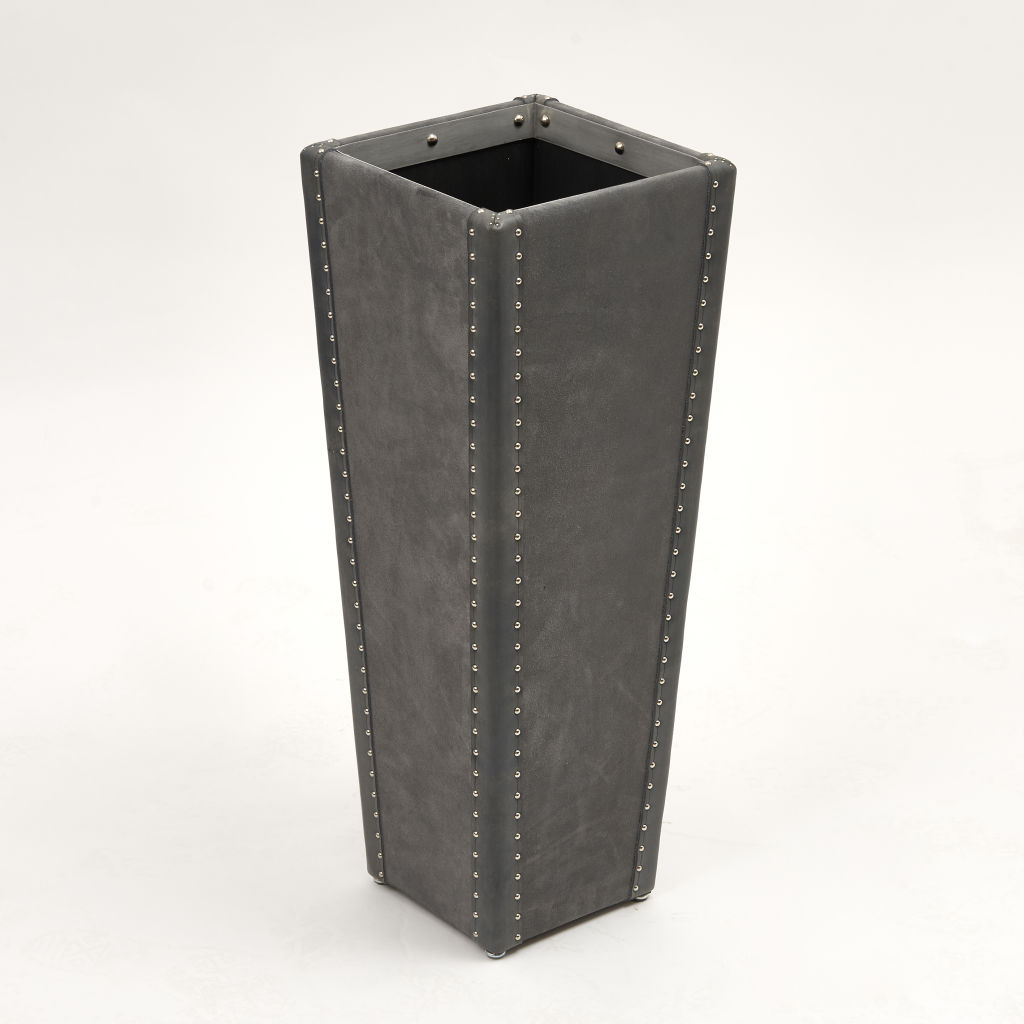 Grey Suede Umbrella Stand