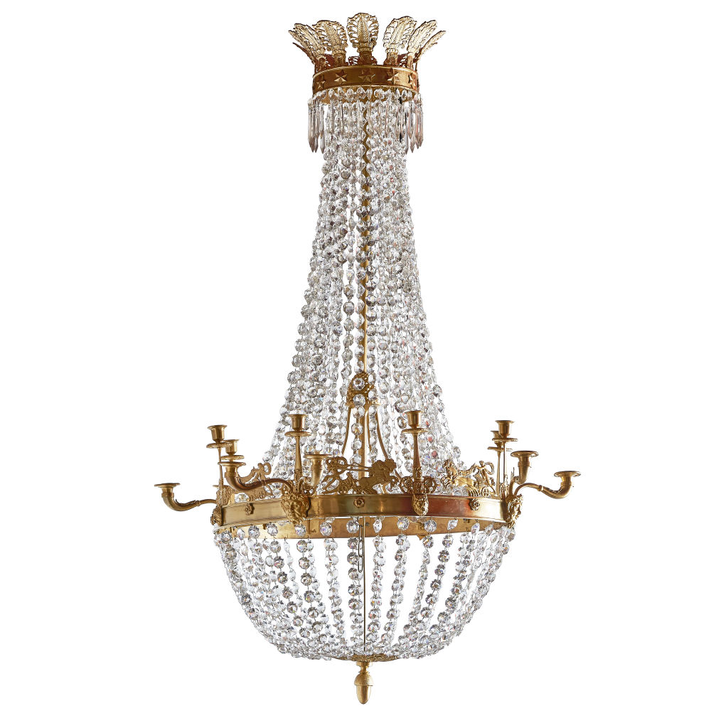 French Empire Tent Form Chandelier