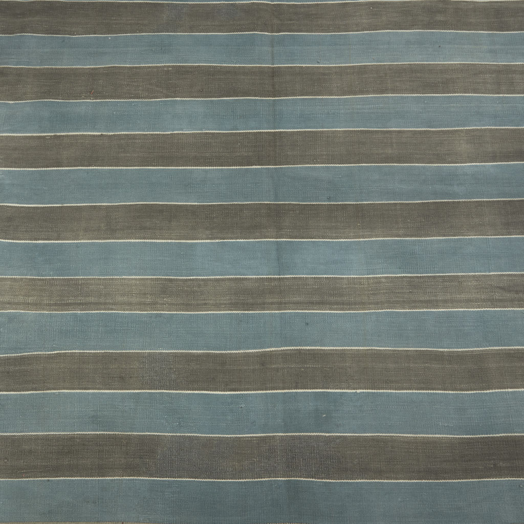 Blue and Grey Stripe Dhurrie