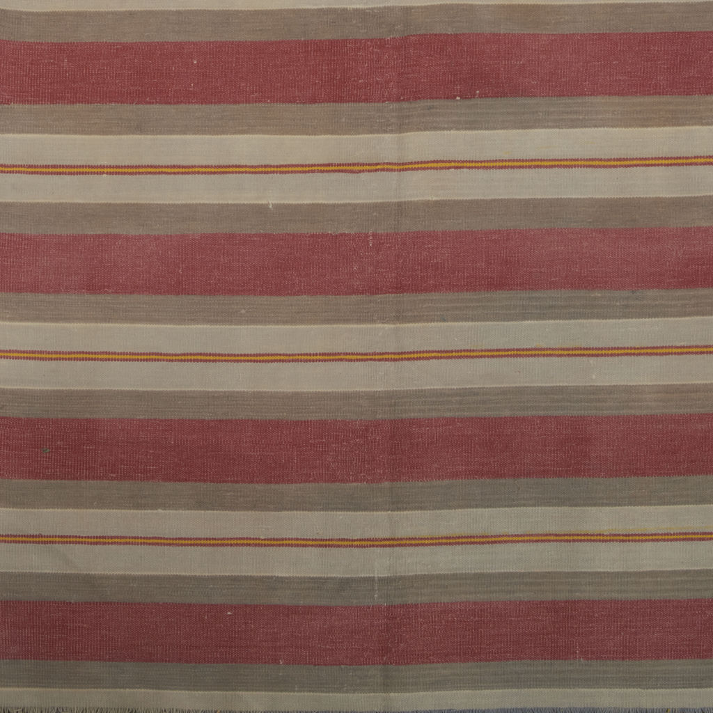 Pink, Grey & Cream Stripe Dhurrie