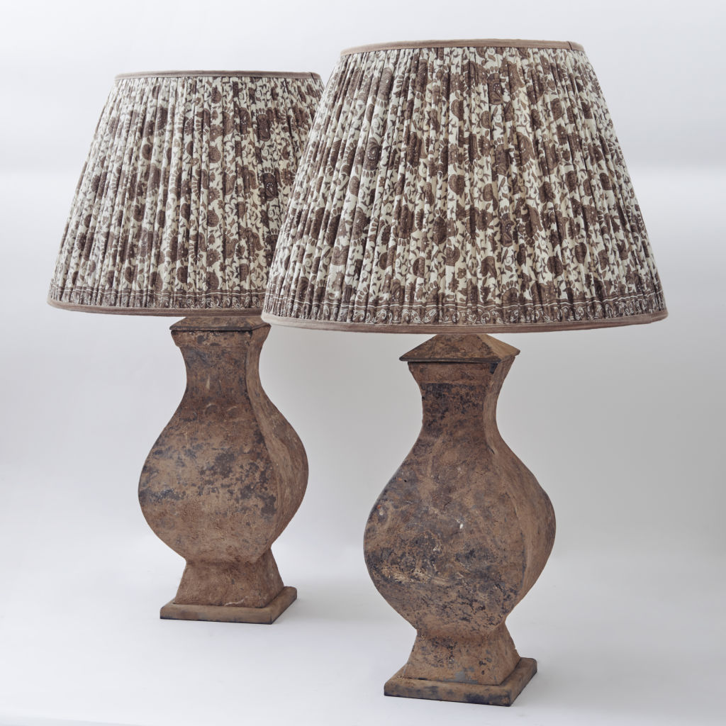 Pair Square Han Lamps
