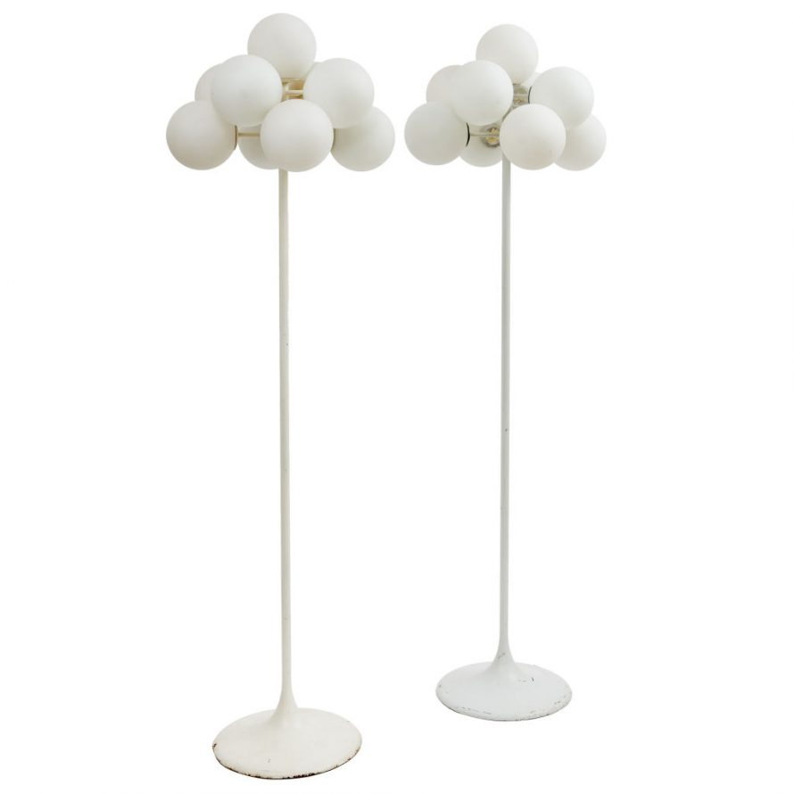 Pair Max Bill Floor Lamps
