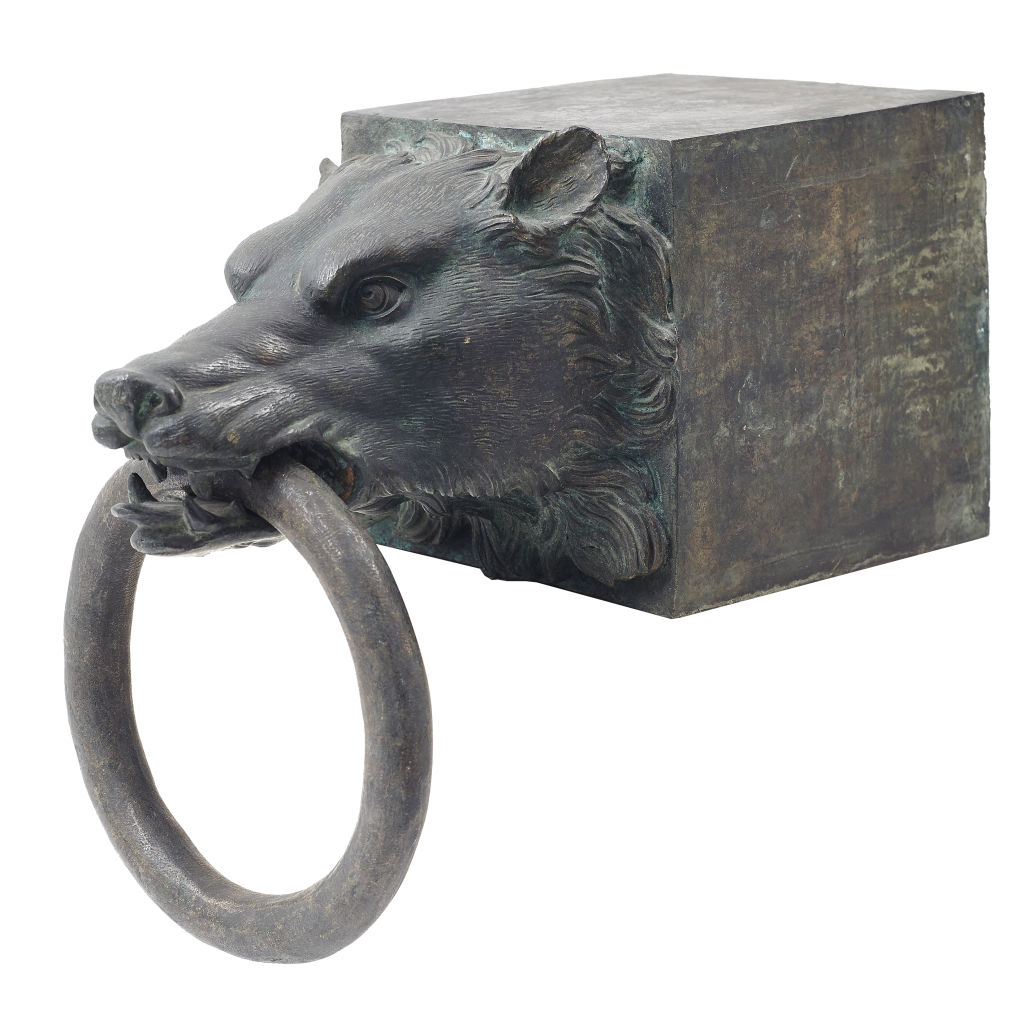 Grand Tour Bronze Wolf Head