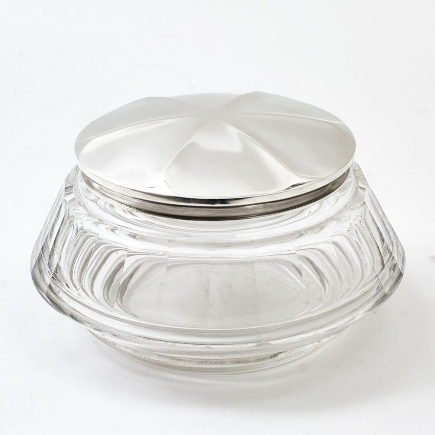 French Circular Crystal Jar