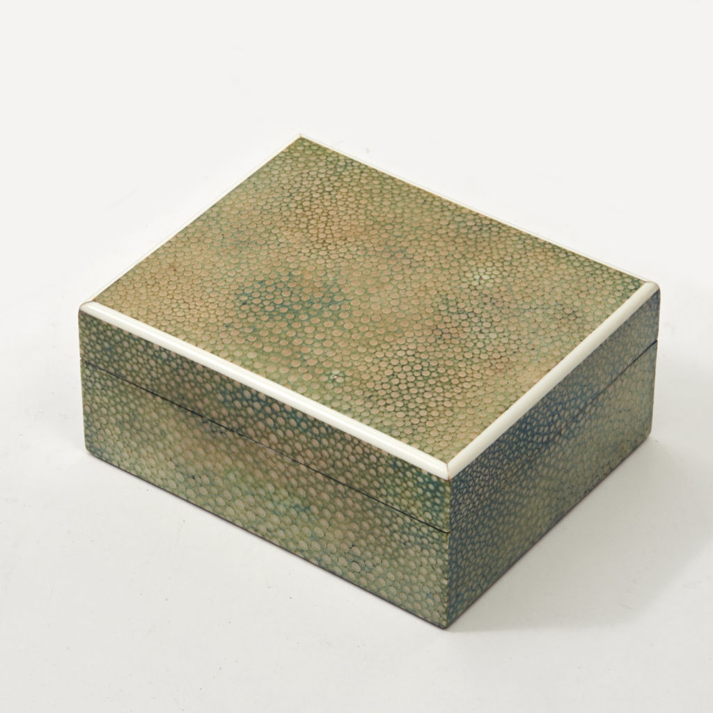 Asprey Green Shagreen Cigarette Box