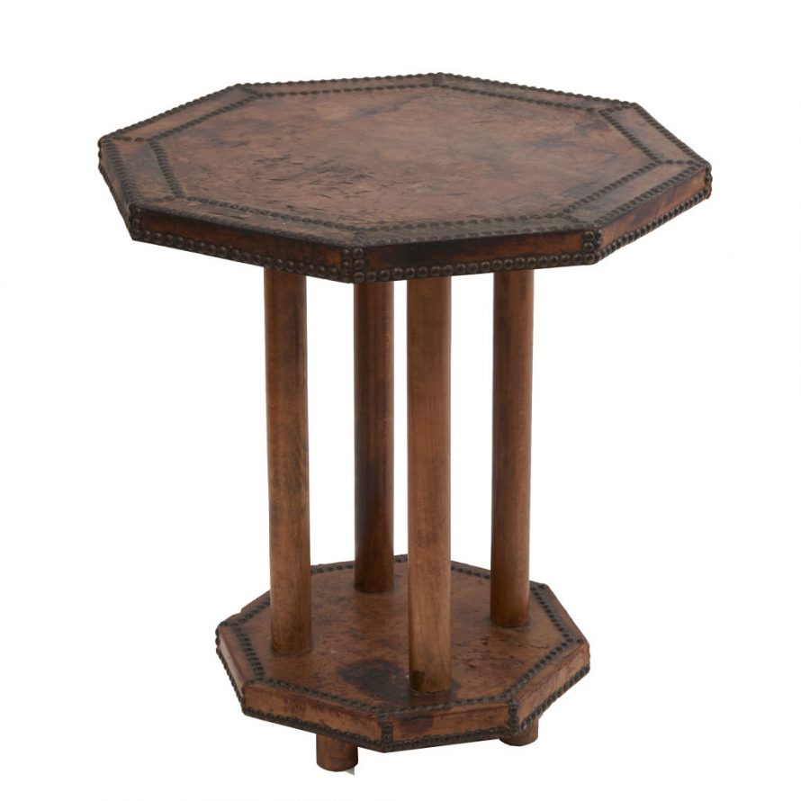 Studded Leather Table