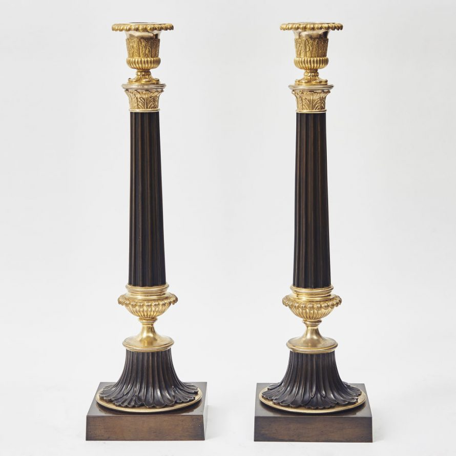 Large Louis Philippe Candlesticks