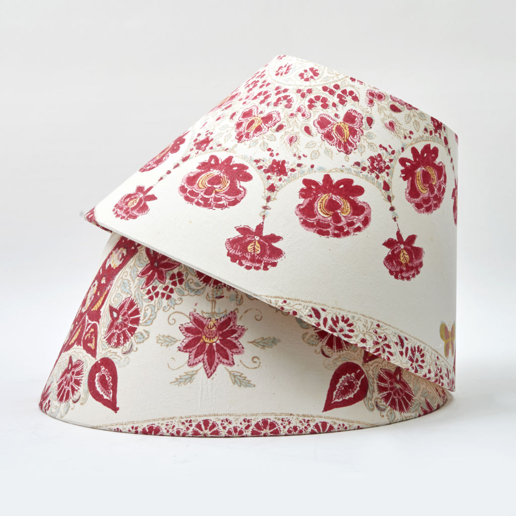 Floral Block Print Fabric Shades