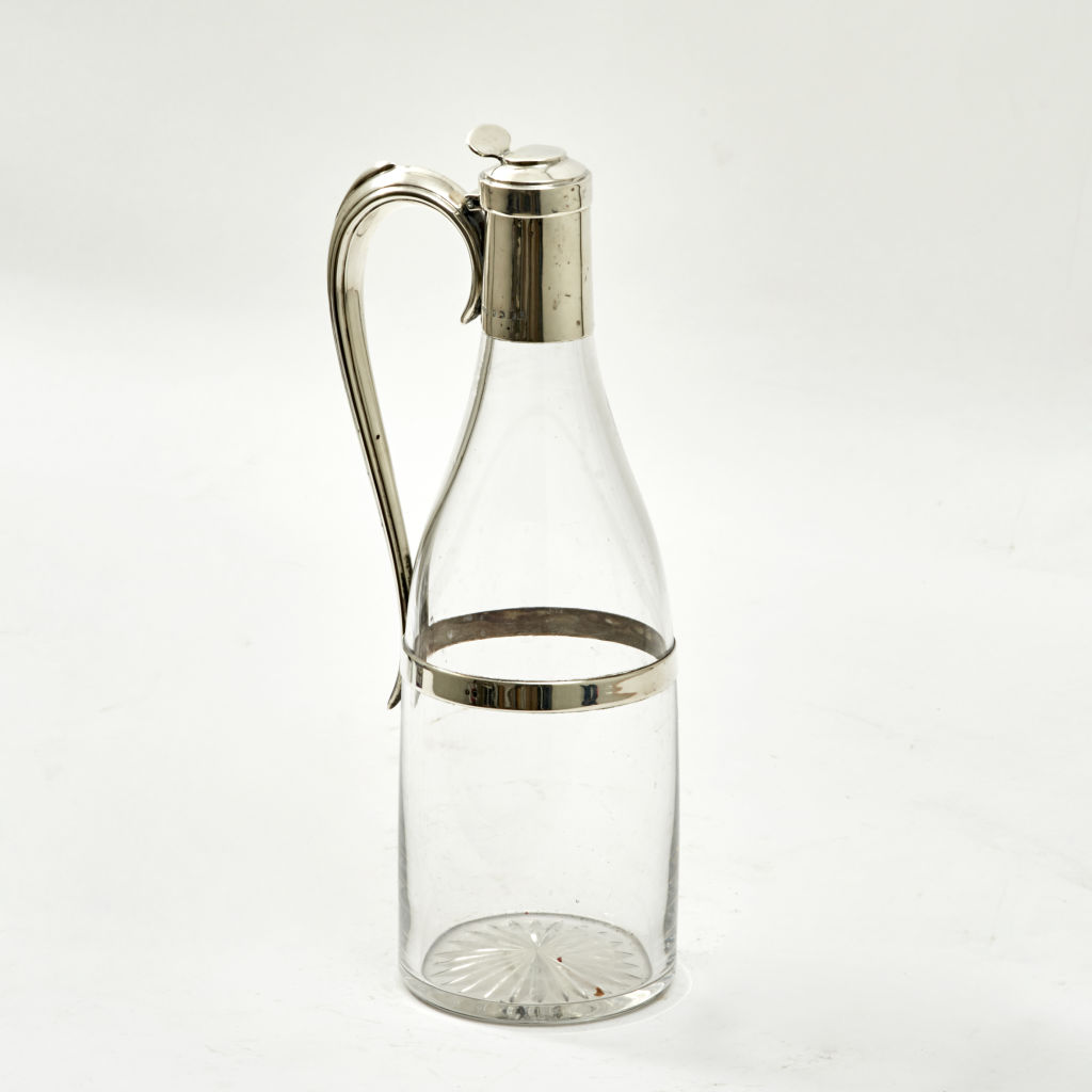 Silver Mounted Glass Claret Jug