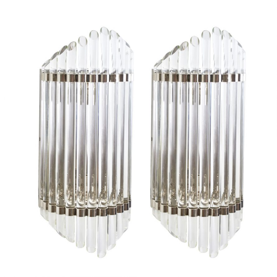 Pair Large Contemporary Lights