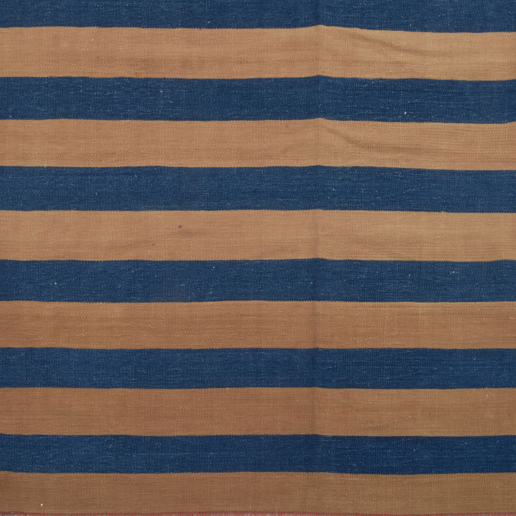 Caramel and Blue Striped Dhurry