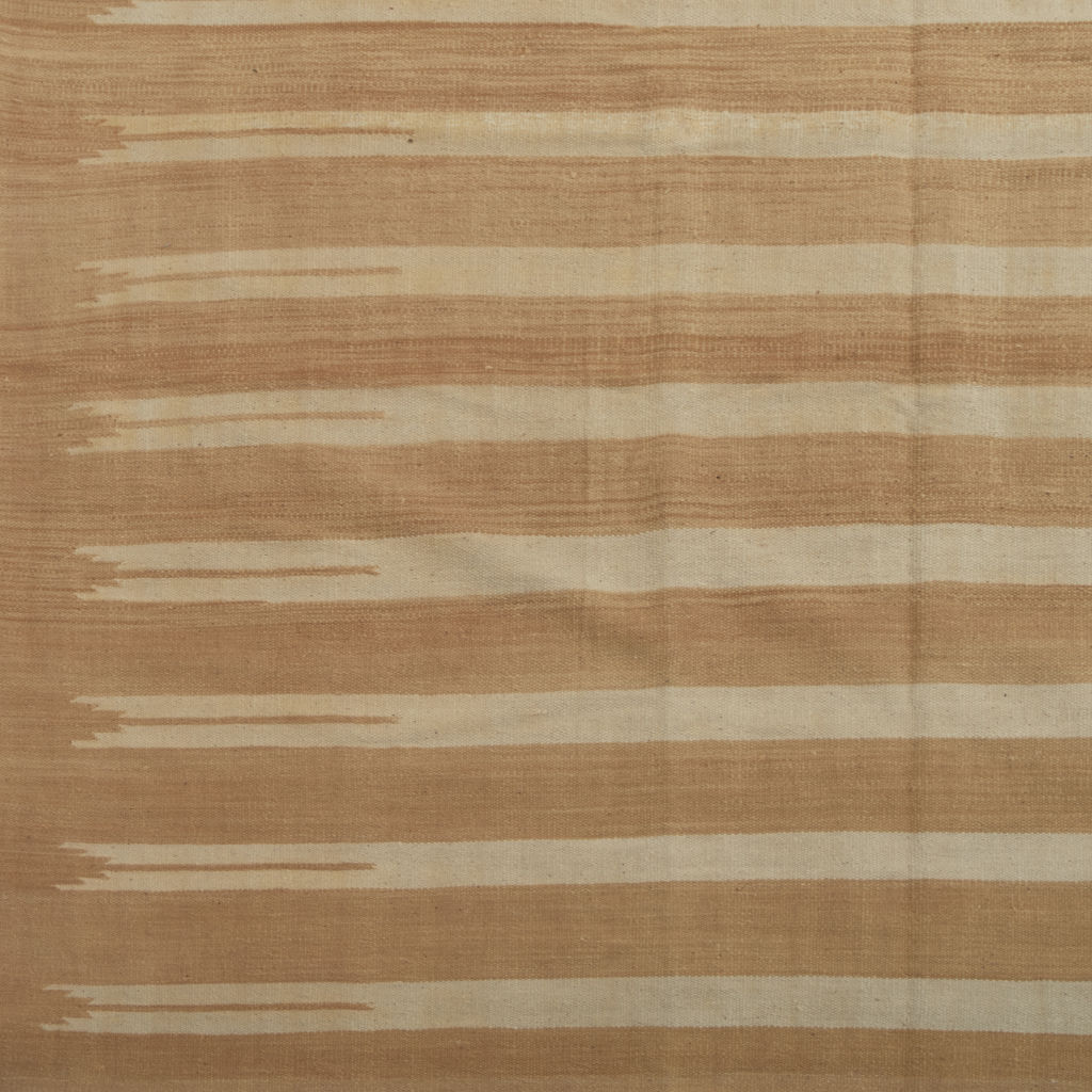 Beige and Cream Stripe Dhurrie