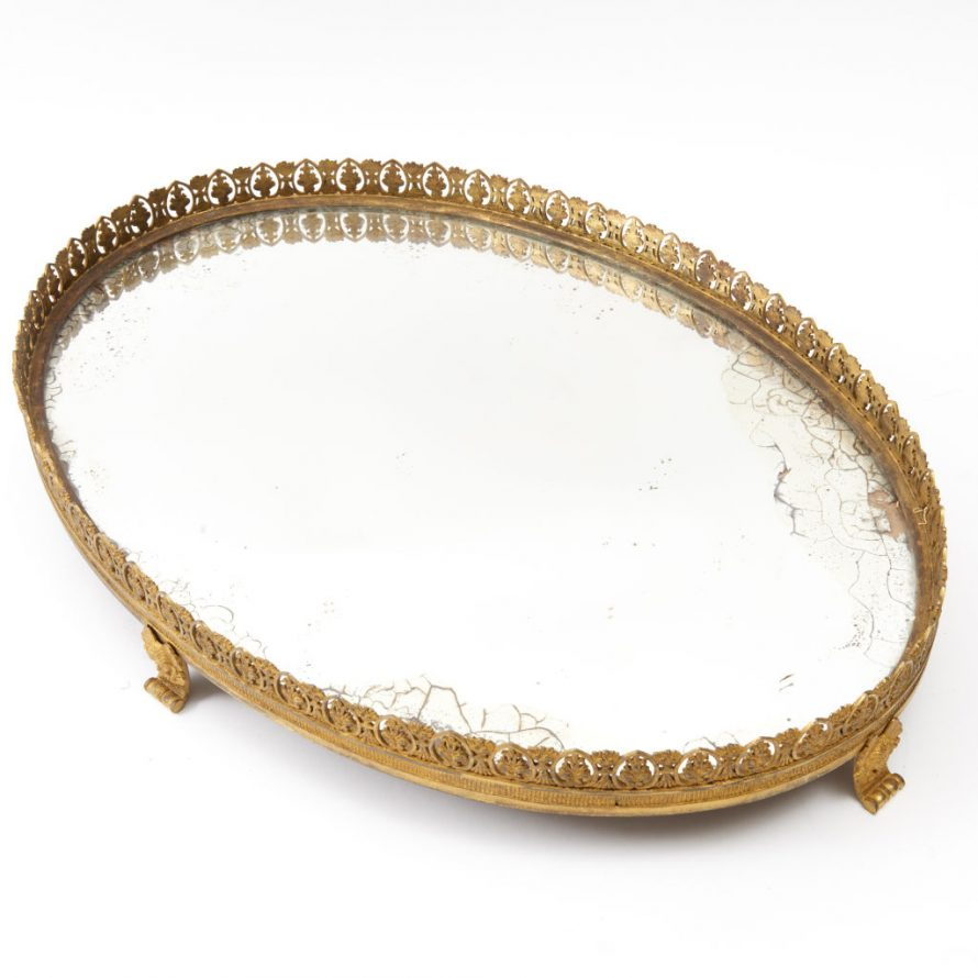 Oval Mirrored Surtout