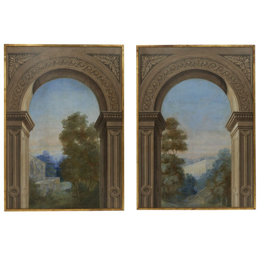 Pair Architectural Paintings