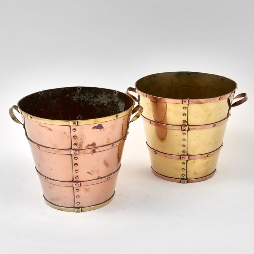Pair of Harlequin Buckets