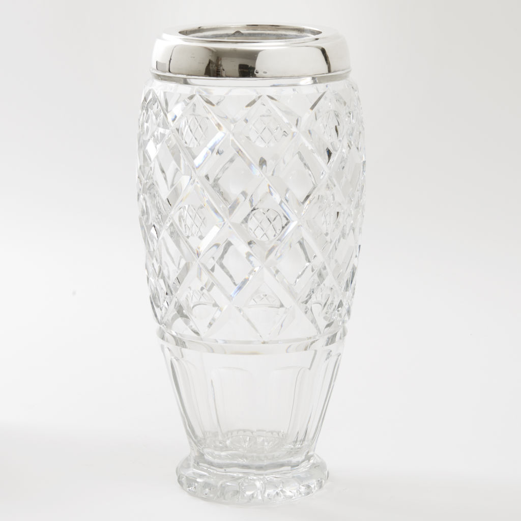 Art Deco Crystal Vase