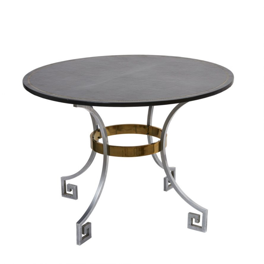 Neo-Classical Steel Card Table