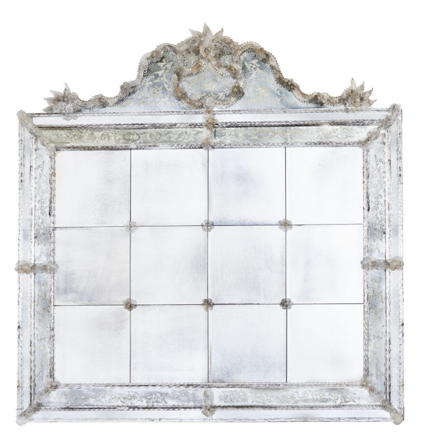 Large 20th Century Venetian Mirror