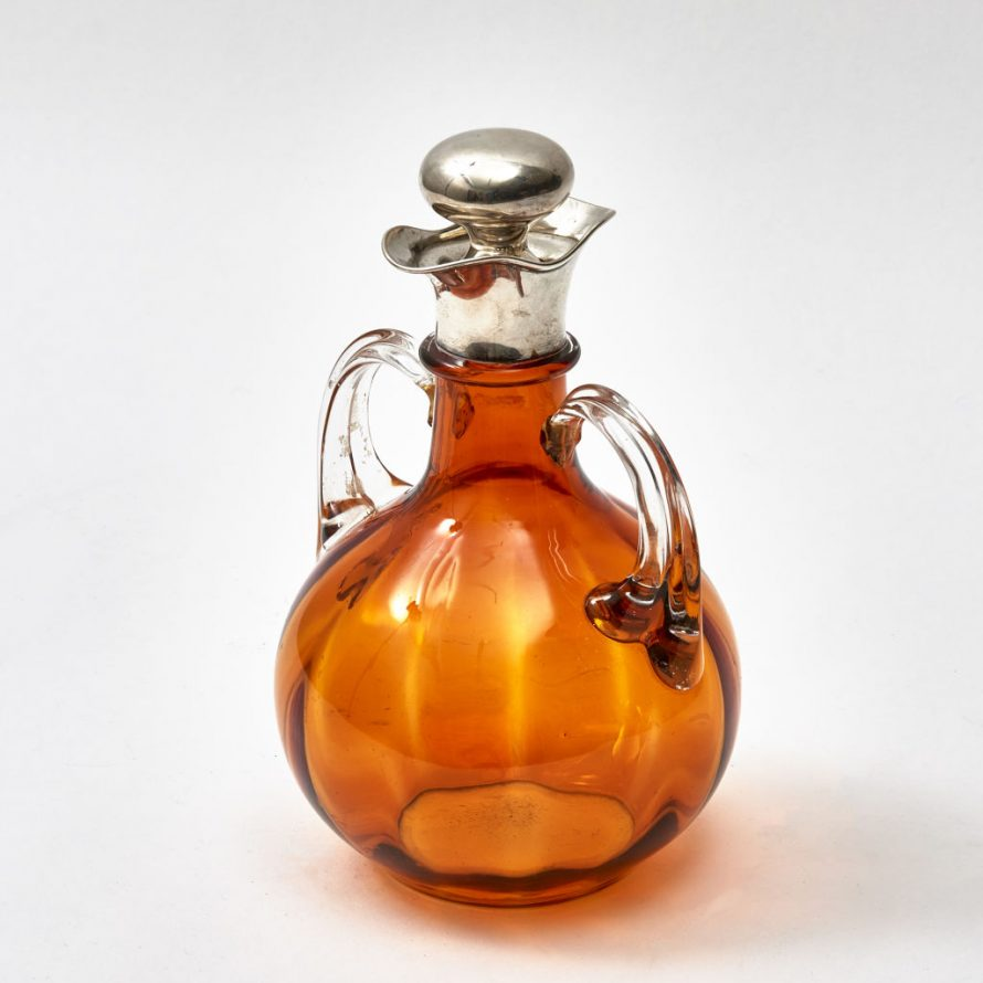 Victorian Amber Glass Decanter