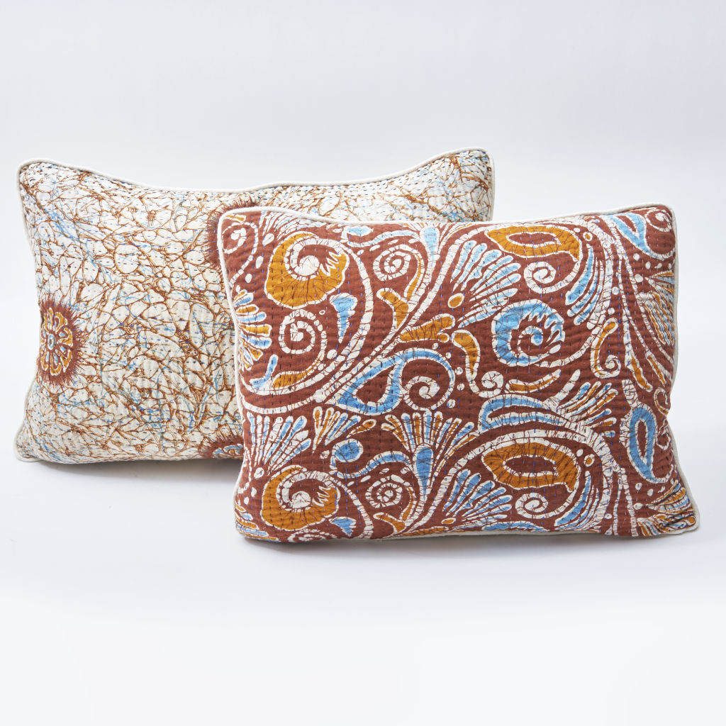Quilted Sari Cushions