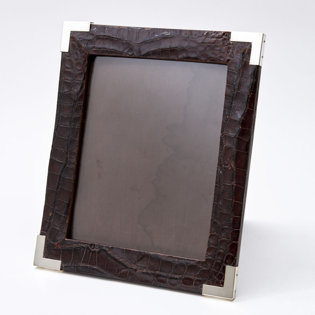 Frame made from Vintage Crocodile Skin