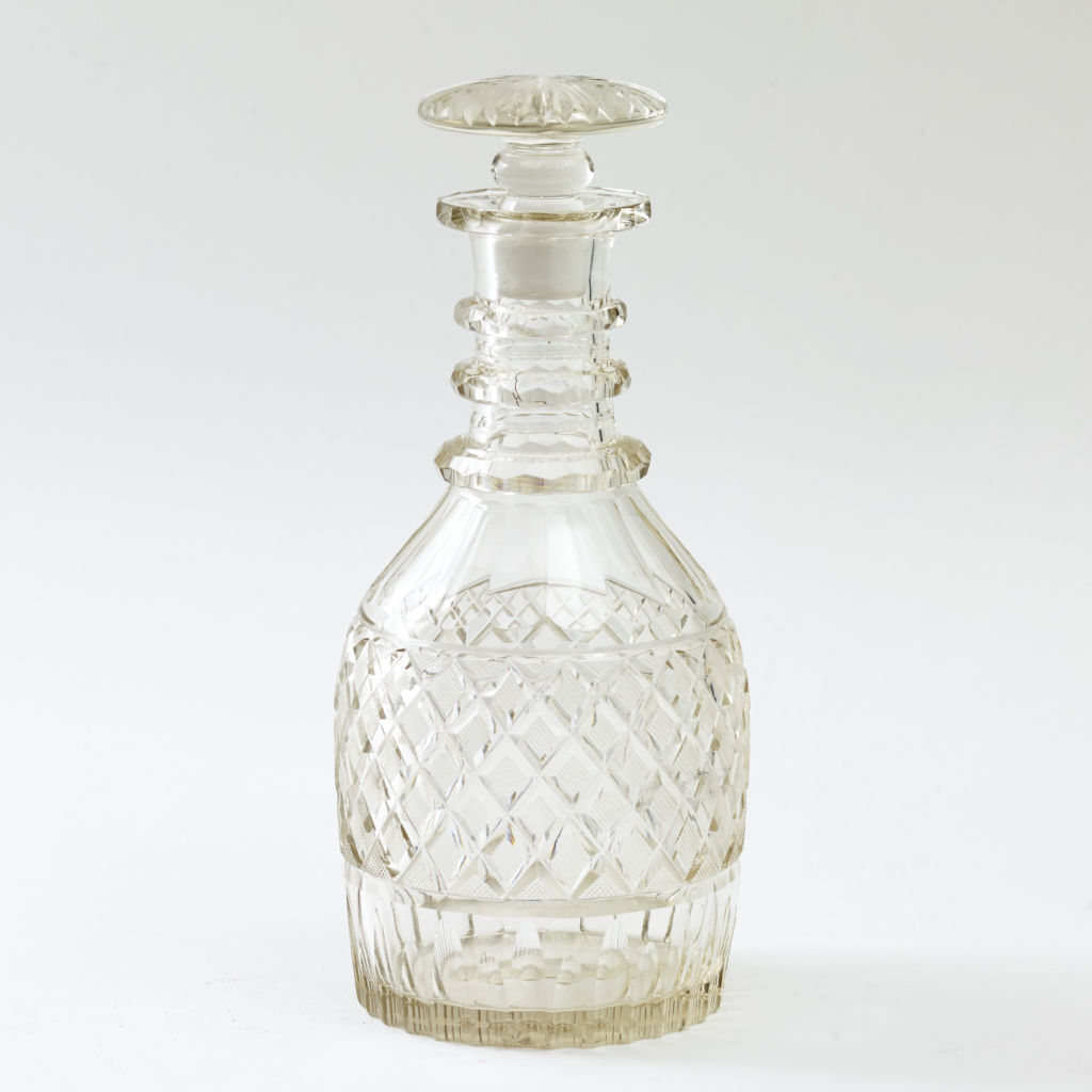 Hobnail Cut Magnum Decanter