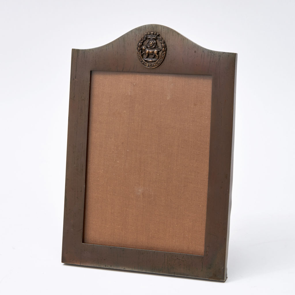 Copper Photo Frame with Crest