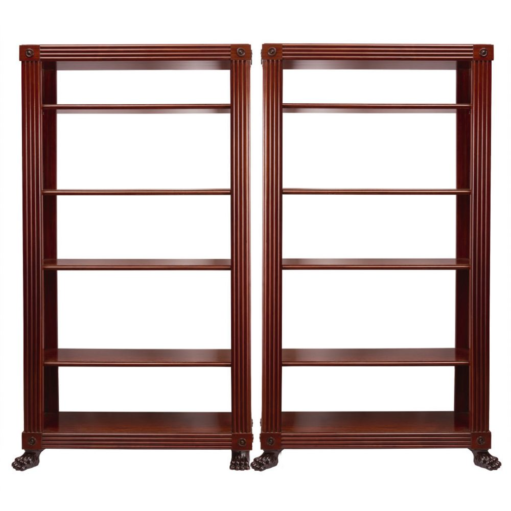 Regency George Smith Style Mahogany Shelves