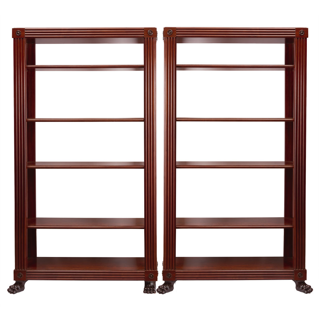 Pair Regency Style Mahogany Shelves