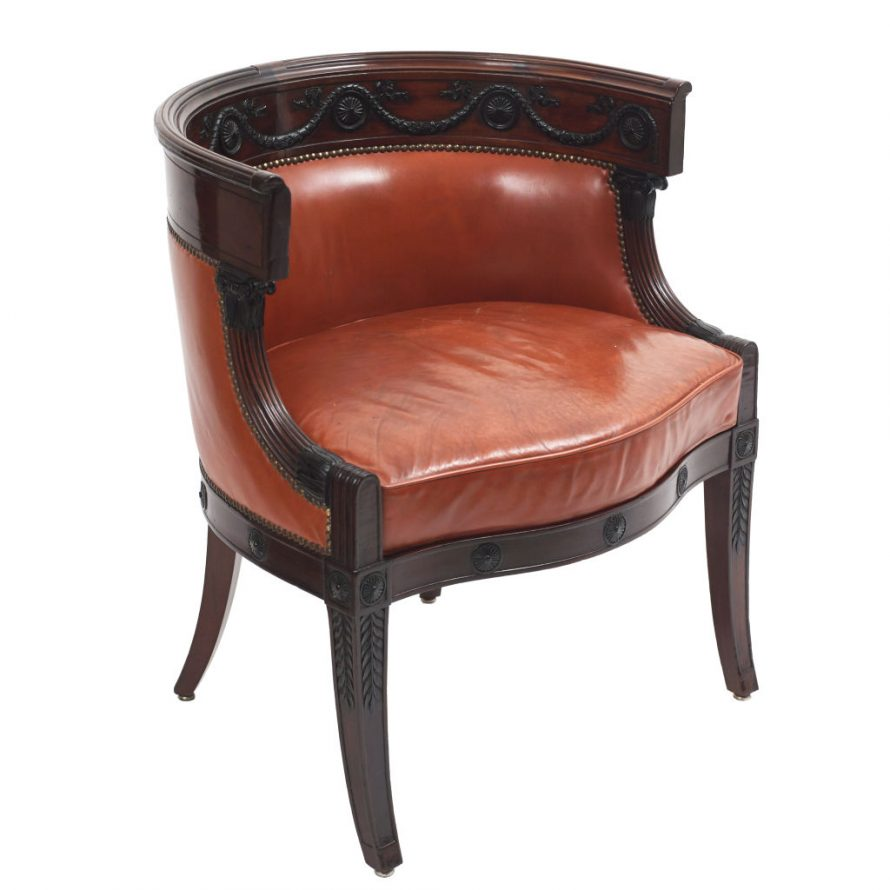 French Empire Tub Back Chair