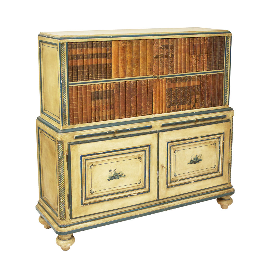 Chinoiserie Painted Bar Cabinet
