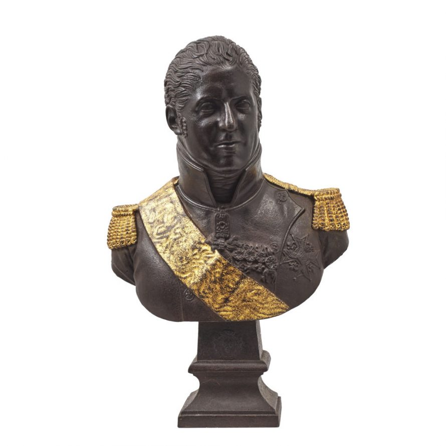 Iron Bust of King Charles X