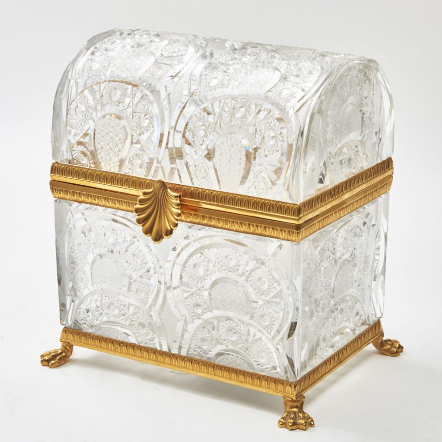 Monumental Crystal Casket