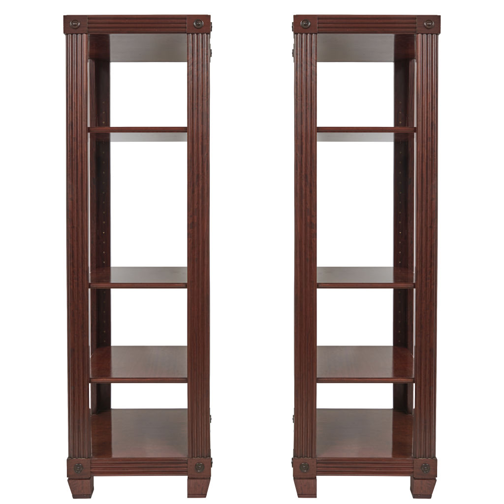 Pair Mahogany Shelves