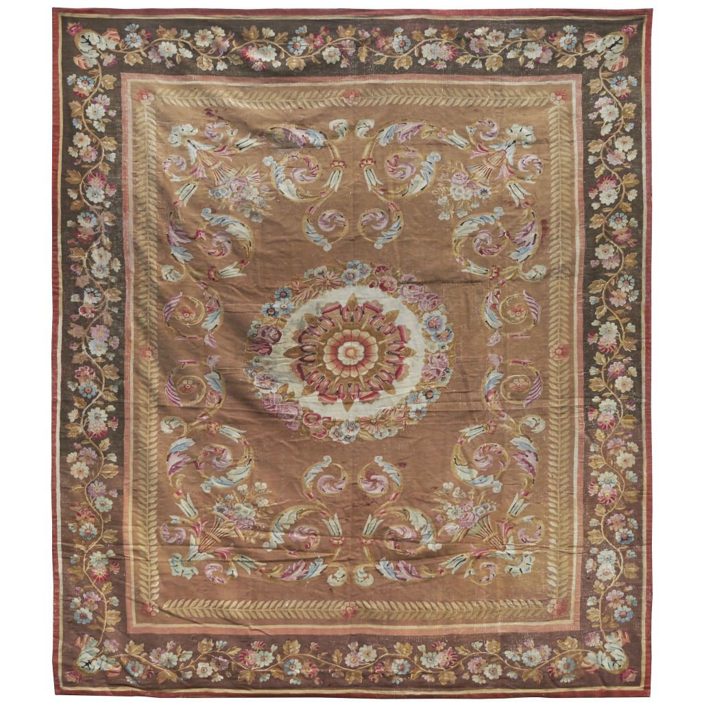 Large Chales X Aubusson Carpet