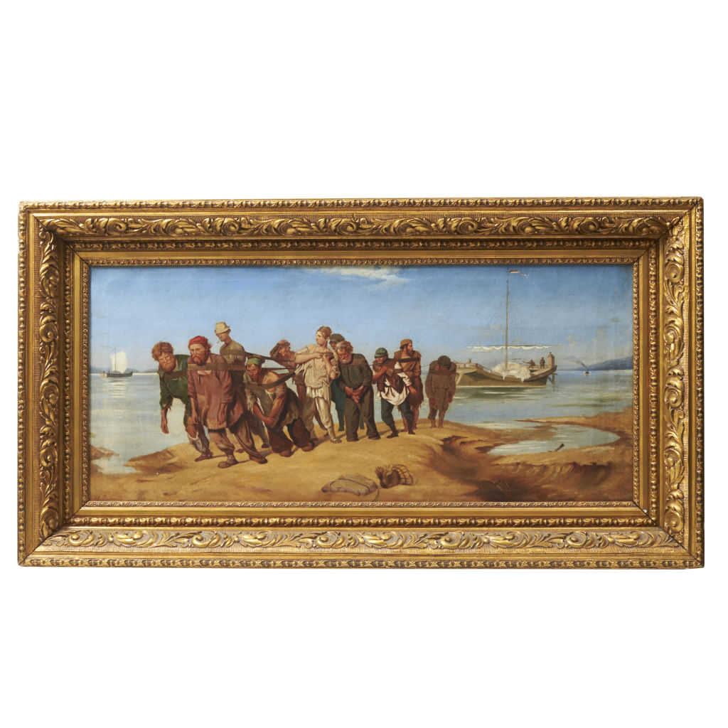 Barge Haulers on the Volga Signed U.Piennho