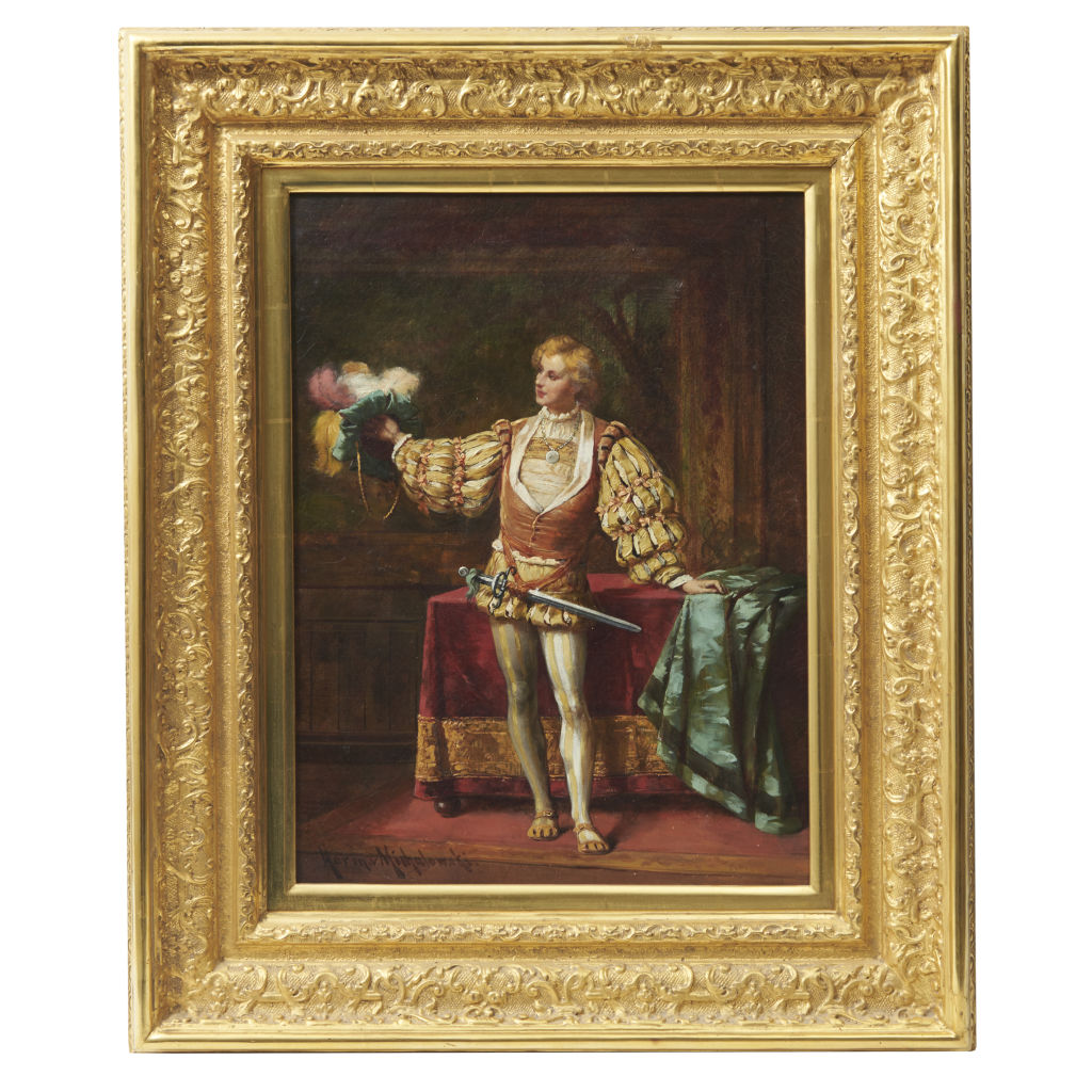 19thC German Painting of a Courtier
