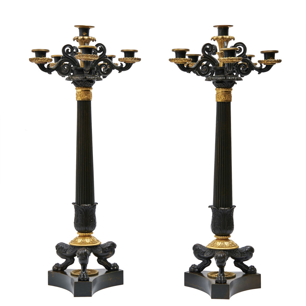 Large French Louis Philippe Candelabra