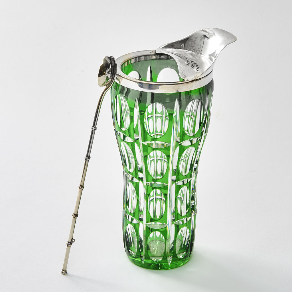 Clear & Green Glass Drinks Mixer