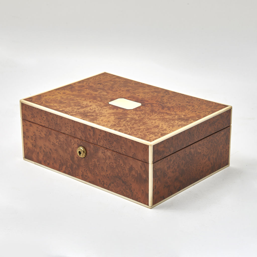 Large French Amboyna Wood Humidor