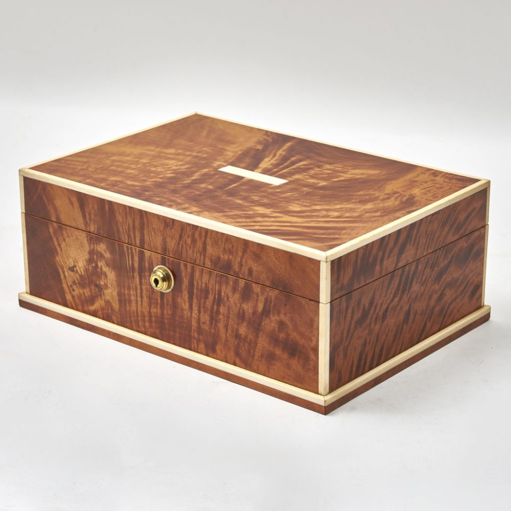 Large French Satin Wood Humidor