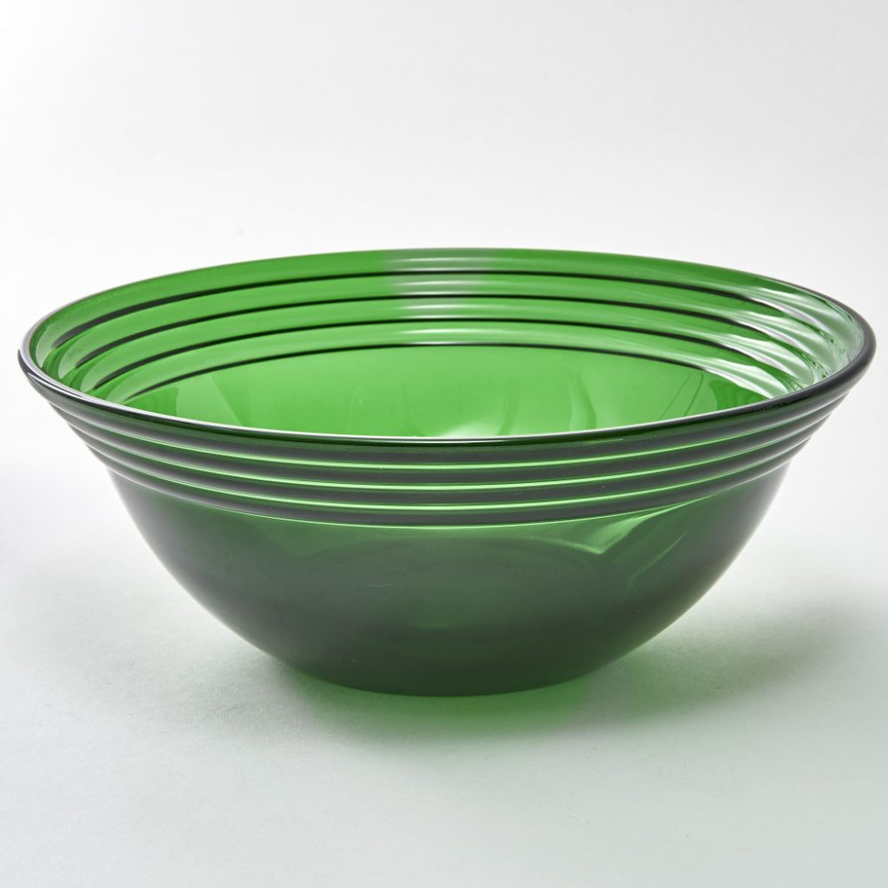 English Green Glass Bowl