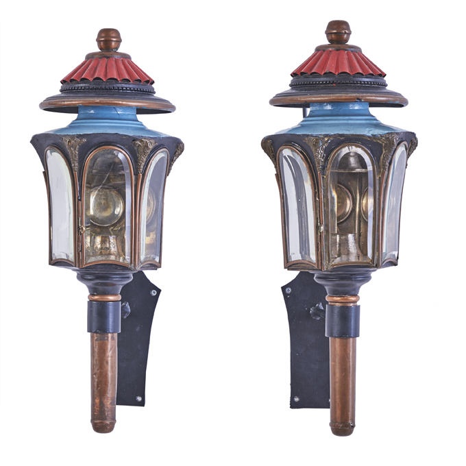 Painted Tole Coach Lanterns