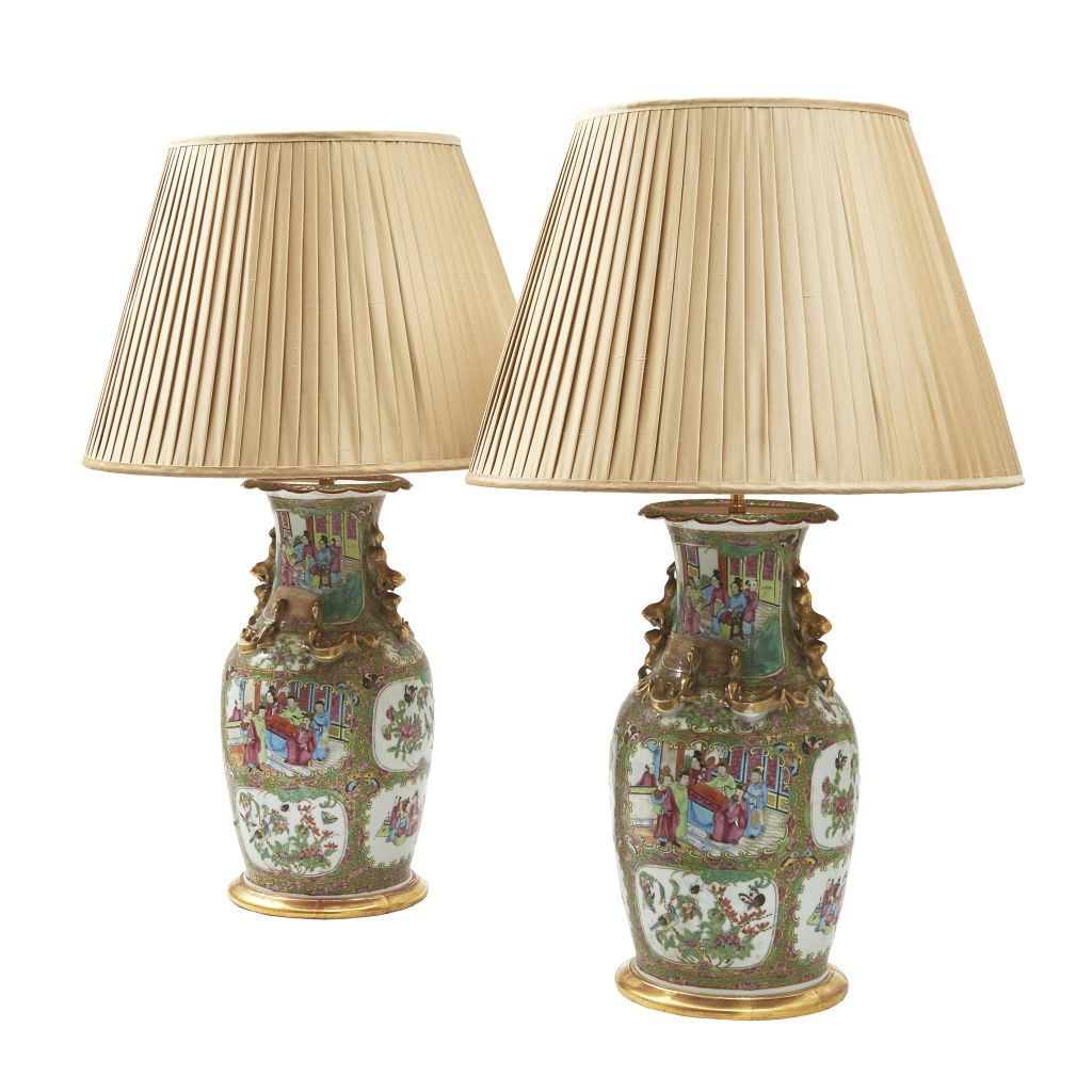 Chinese Famille Rose Lamps