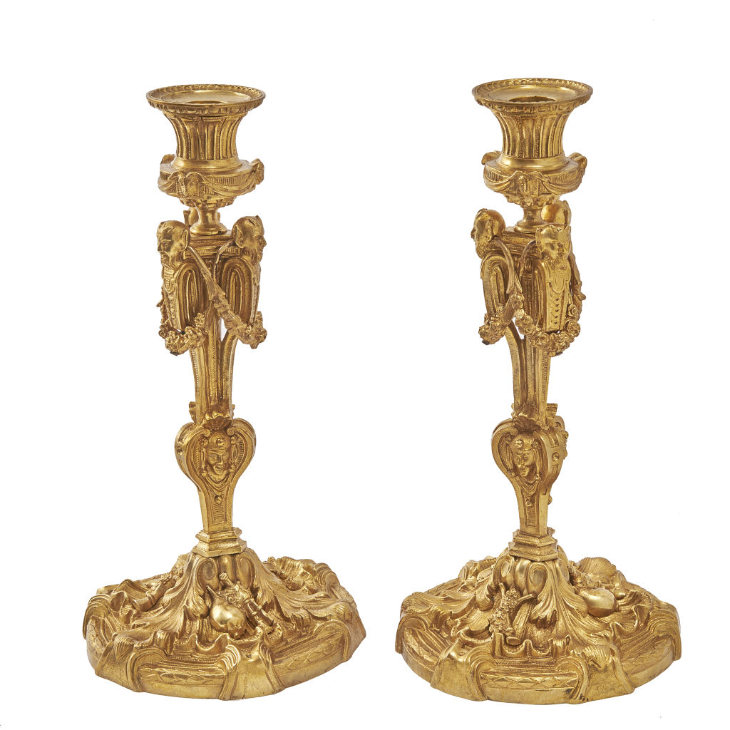 Pair Ormolu Candlesticks
