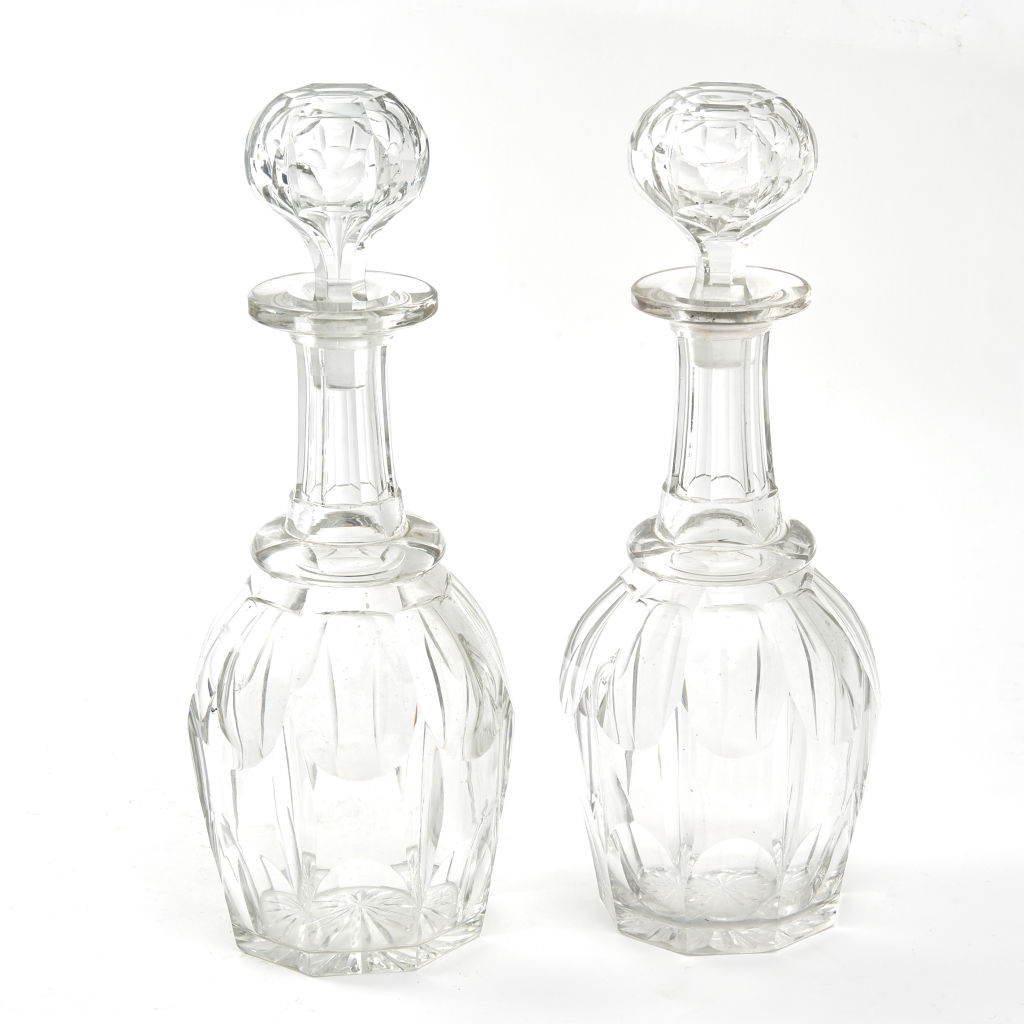 William IV Crystal Decanters
