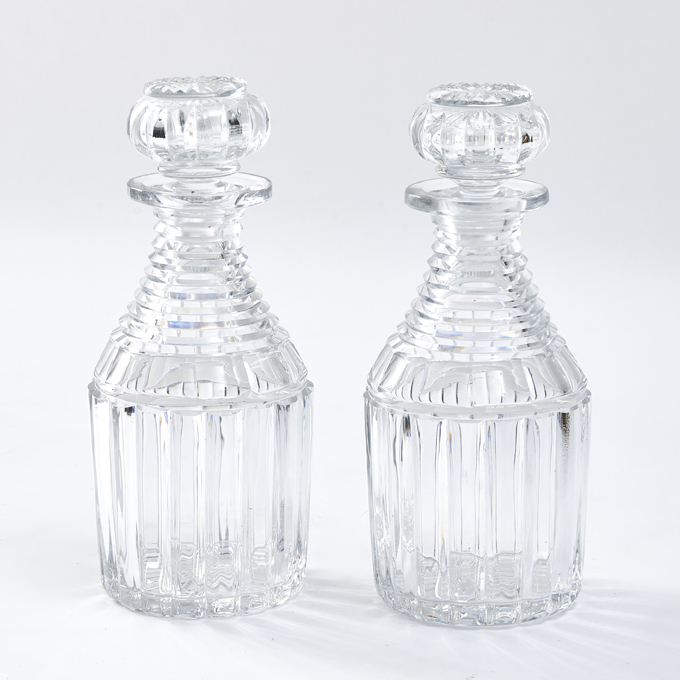 Late Regency Cut Crystal Decanters