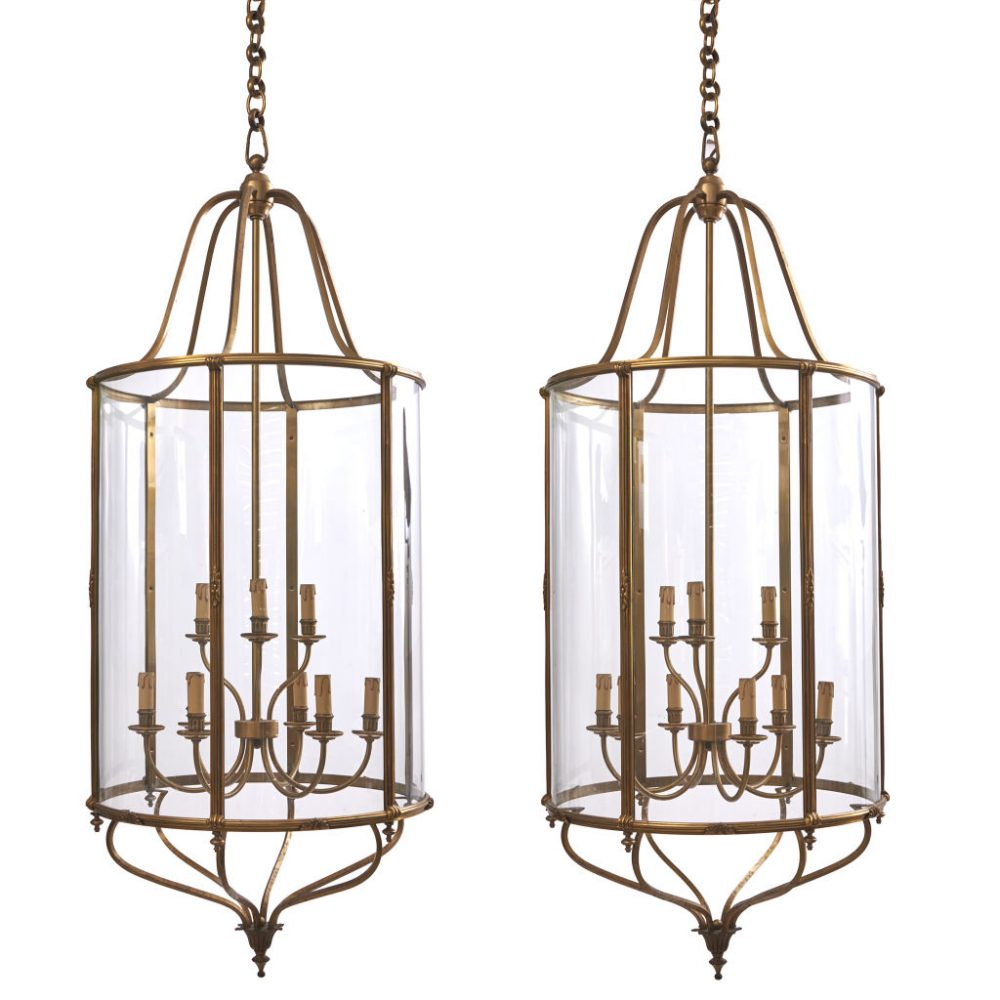 Large French Neoclassical Lanterns
