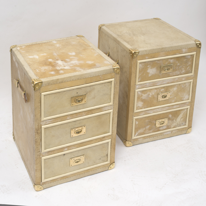Pair of Vellum Trunks